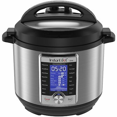 Instant Pot Ultra 6 Qt 10-in-1 Multi- Use Programmable Pressure Cooker, Slow