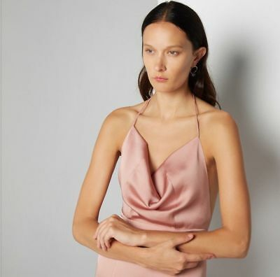 RRP $369 Fame and Partners Tate Dress in Satin Pink Formals Bridesmaids Dress