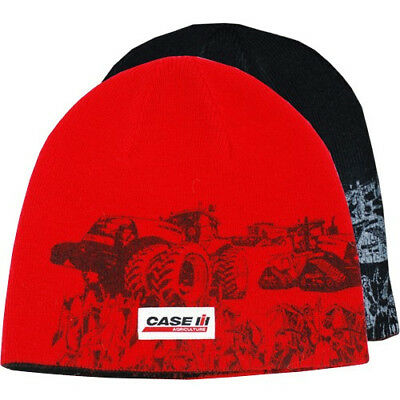 CASE IH *RED & BLACK *MODERN TRACTOR* REVERSIBLE* BEANIE Stocking Hat Cap NEW