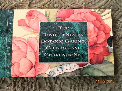 1997 (P) United States Botanic Garden Coinage And Currency Set