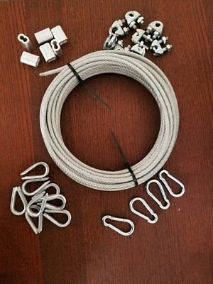 Vinyl Steel Wire Rope Cable Ferrules Thimbles Bowflex Gym Machine Kit Fixing
