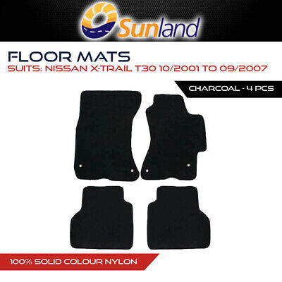 Floor Mats For Nissan X-Trail T30 Oct 2001 - Sep 2007 Charcoal 4Pce Car Auto Acc