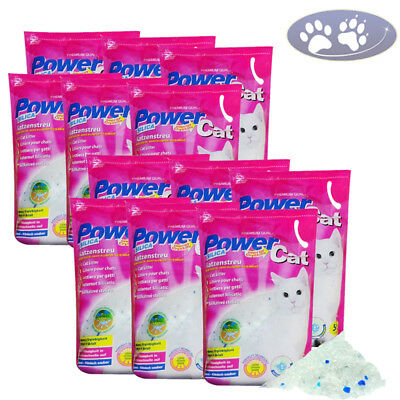 12 x 5 l = 60L POWER CAT MAGIC SILIKAT KATZENSTREU POWERCAT STREU FOREVER CLEAN