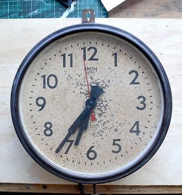 Vintage Smith Sectric Acelec Bakelite Wall clock (not working)