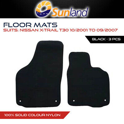 Floor Mats For Nissan X-Trail T30 Oct 2001 - Sep 2007 Black 3Pce