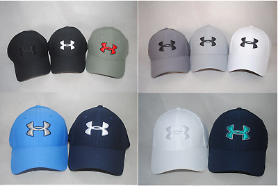 New Under Armour Men s UA Blitzing 3.0 Cap  1305036 Curved Bill Stretch Fit  Hat 81ea088c19d9