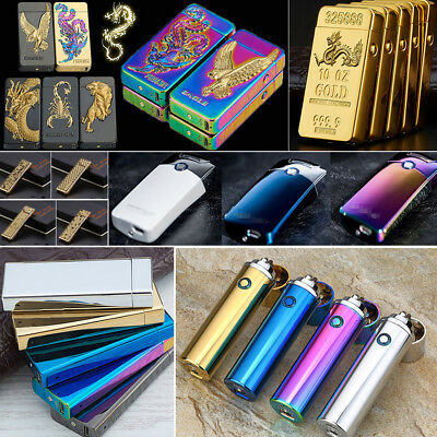 Rechargeable Electric Various Style Plasma Flameless Lighter Cigar Windproof US