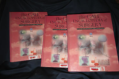 The Gale Encyclopedia of Surgery Vol.1, 2 & 3 Patient & Caregivers '04 Books