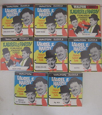 LAUREL & HARDY 8 x WALTON SUPER 8 incl BLOTTO, TIT FOR TAT, DIRTY WORK