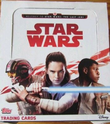 Journey to Star Wars The Last Jedi  BOX of 35 Packs Trading Cards 2017 NEW