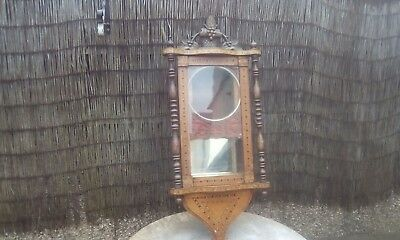 Antique Vintage Wooden Vienna Wall Clock Case For Restoration Project