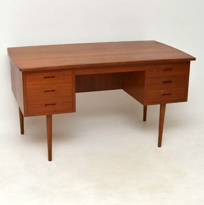 DANISH RETRO TEAK DESK VINTAGE 1960's