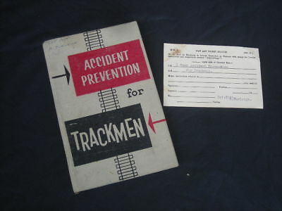 Vintage VR Book ACCIDENT PREVENTION FOR TRACKMEN, 1950's? - VICTORIAN RAILWAYS..