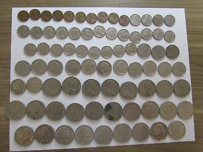 Lot of 79 Different Australia Coins - 1966 to 2015 - Circulated & Brilliant Unc.