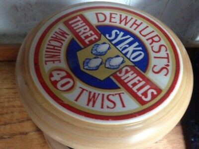 Dewhurts Silko Point of Sale Ceramic Reel of Thread