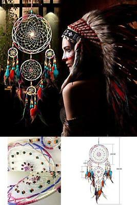 31'' Dream Catcher Colorful Feathers Wall Home Office Hanging Ornament Large NEW