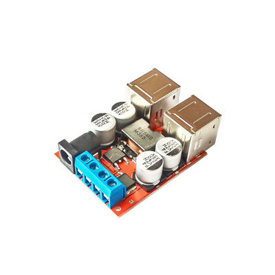 4 USB Buck Step down 8V-35V to 5V 8A Power Supply Module for Phone Car Charger