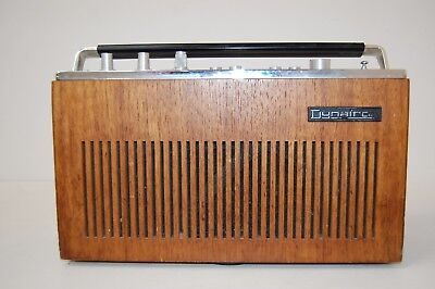 Old Retro Vintage Dynatron Elan AM-FM Portable Transistor Radio