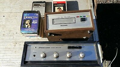 Mustang 8 Track Player + Rank Audio Ra-210 Amplifier + Tapes