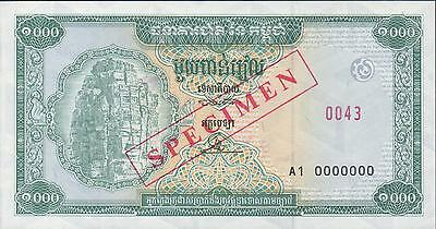 Cambodia 1000 Riels  ND. 1995 P 44s  Uncirculated  Banknote