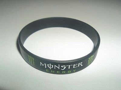 MONSTER ENERGY Silicone BRACELET ~ Black Rubber Silicone Wristband ~ BRAND NEW
