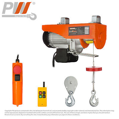 PROWINCH 550 lbs / 1100 lb Electric Rope Hoist 110V 120V Wireless Remote Control