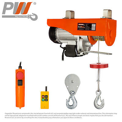 PROWINCH 1100 lb / 2200 lb Electric Rope Hoist 110V 120V Wireless Remote Control