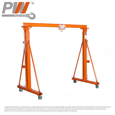 ProWinch 2200 lb 1 Ton Manual Gantry Crane 12 feet HUB 11 feet SPAN