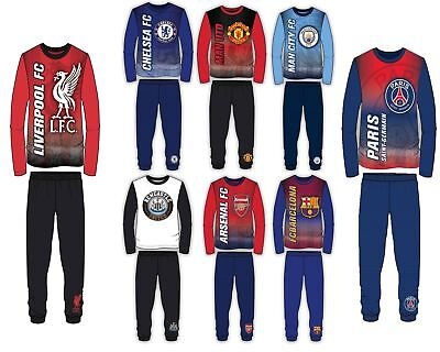 Official Football Psg Lfc Mufc Efc Barca Long Sleeve Pyjamas Pjs 4 To 12 Years