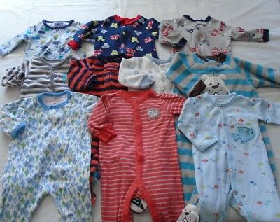 Used 10 Pc. Lot Of Newborn Baby Boy Clothes 0-3 Months Euc/vguc