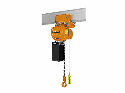 2 Speed 2,200 lbs. 1 Ton. 19 ft Lift Height Electric Chain Hoist Power Trolley