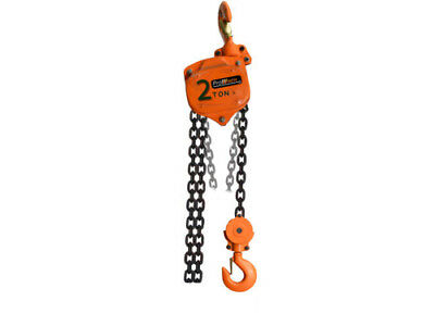 4400 lbs. 2 ton 20 ft Manual Chain Hoist Overload Protection G100 chain PWV2Tp