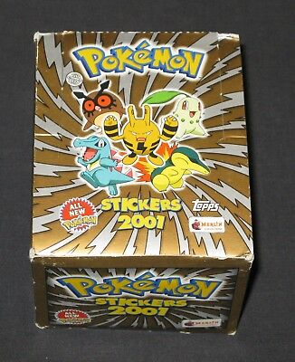 Pokemon Stickers 2001 Box RARE Merlin Collections Topps