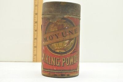 Baking Powder Tin Fremont Nebraska Moyune Early Paper Label