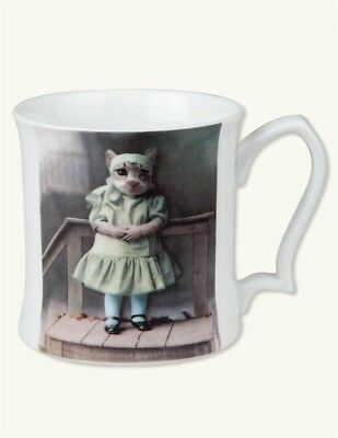 Victorian Trading Co Tootsie Kitten in Dress Donna Sanna Bone China Cat Mug