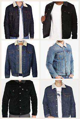 Levi's Men's Denim Sherpa Trucker Jackets Many Colors and Sizes