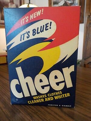 Vintage Cheer Detergent Box, New, Never Opened