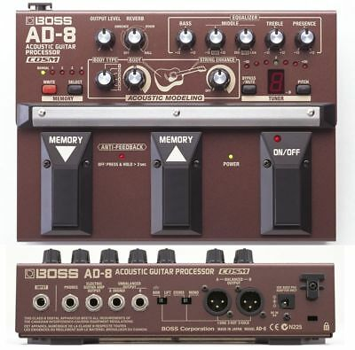 Boss Ad-8 Acoustic Guitar Effects Pedal Processor & Power Supply