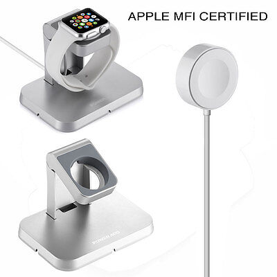 Magnetic Charger Station Charging Cable & Stand for Apple Watch iWatch 38mm 44mm