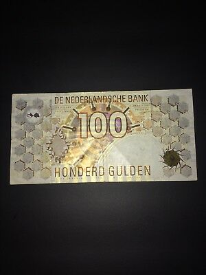 Netherlands 100 Honderd Gulden 1992 Good Nederlandsche Bank Vtg Rare