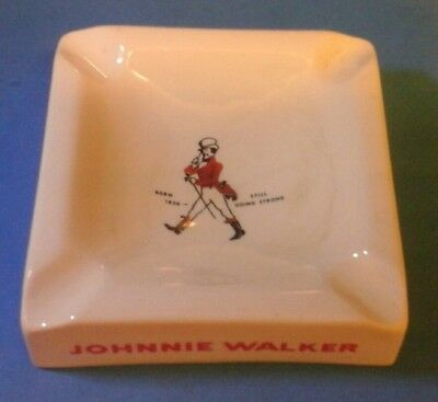 vintage  Johnny  Walker  scotch  whisky  ashtray  barware  collectable  rare