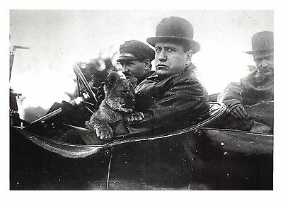 Postcard c1925 MUSSOLINI with his Pet Tiger Cub, a Gift from Aldo Finci #38