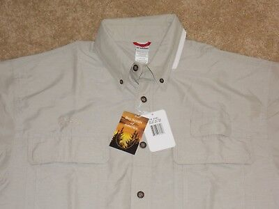 NWT Boys Scouts of America Short Sleeve Beige Action Shirt Vented Mens Medium