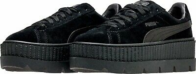 0e9127517a0  366268-04  Womens PUMA Cleated Creeper Black Suede Fenty Rihanna Sneaker