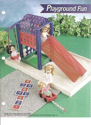 Playgroud Fun ~  plastic canvas pattern  ~  Small Doll pattern
