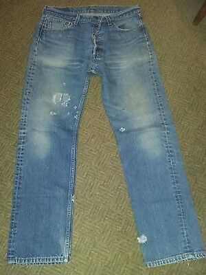 Vintage Pair distressed tattered  501xx Levis Jeans 35 x 34 Made in USA