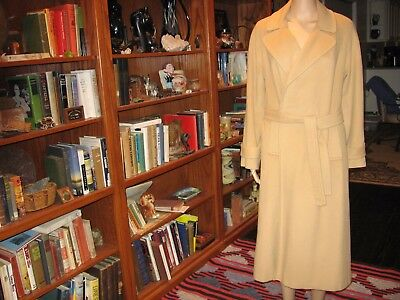 VINTAGE 80's ERA VF 100% LUXURIOUS CASHMERE CLASSIC TAN BELTED FULL LENGTH COAT