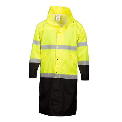 ML Kishigo RWJ108 Class 3 Lime Long Rain Coat