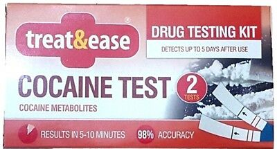 2x Cocaine Test Drug Testing Kit Home Accurate Results Screening Detector