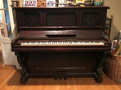 Antique Piano - Horace Waters & Co. Cabinet Grand built in 1891
